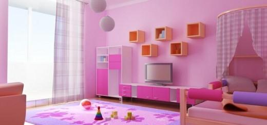 розова детска стая