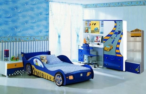 синя детска стая